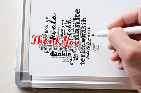 thank you word cloud in different