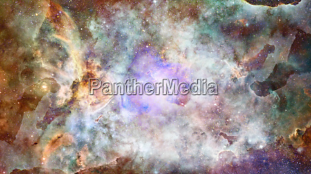 starry deep outer space nebula