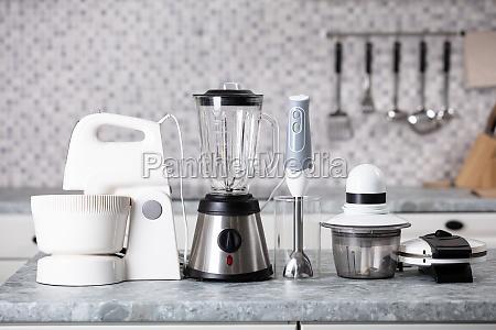 kitchen appliance on worktop