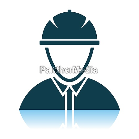 icon of construction worker head in