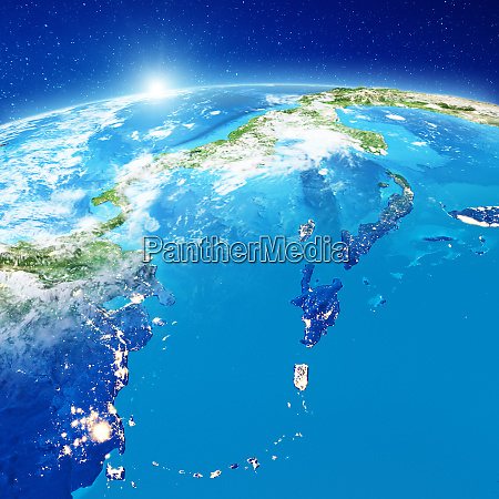 caribbean islands from space