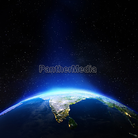 india from space
