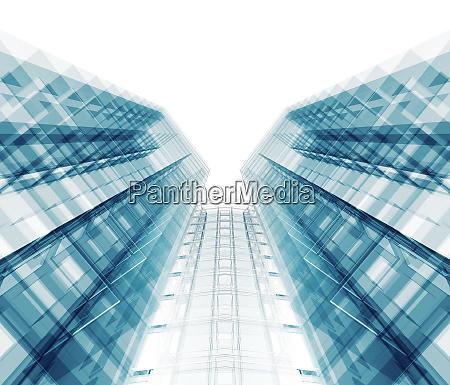 modern office building 3d rendering