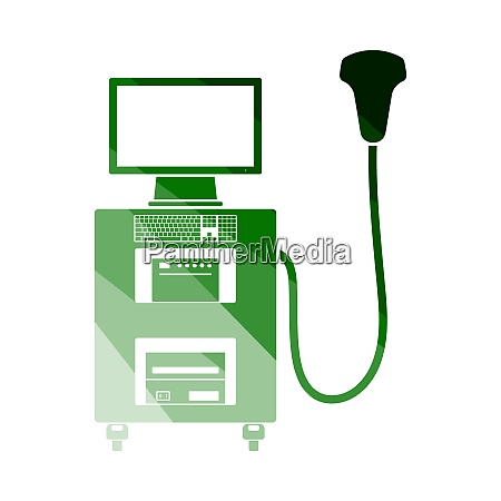 ultrasound diagnostic machine icon