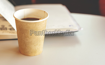 coffee in a recyclable paper disposable