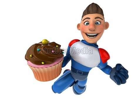 super, modern, superhero, -, 3d, illustration - 26885091