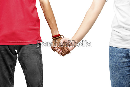 gay couple holding hands together