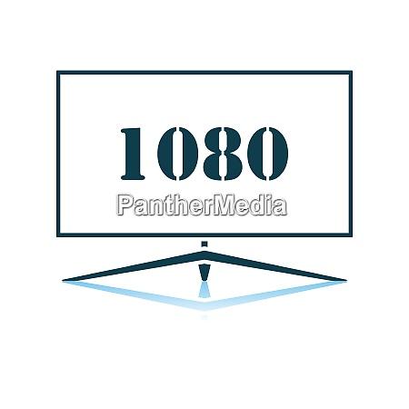 wide tv icon
