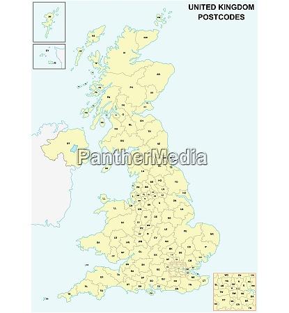 united kingdom postcodes or postal codes