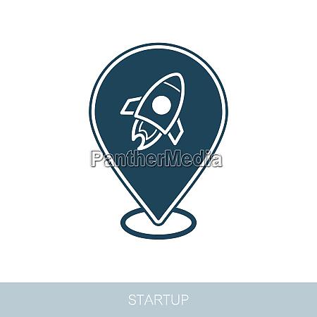 start up pin map icon startup