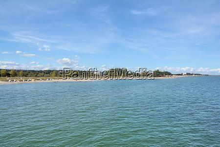 beach of heiligenhafen at baltic