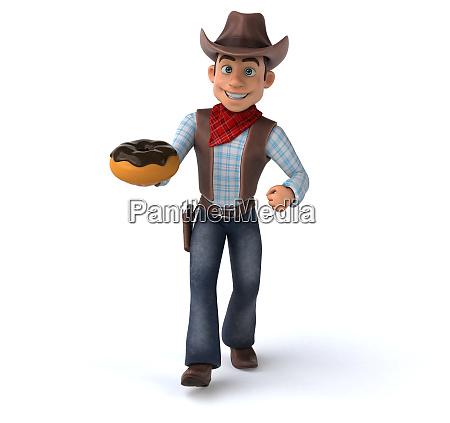fun, cowboy, -, 3d, illustration - 26890688