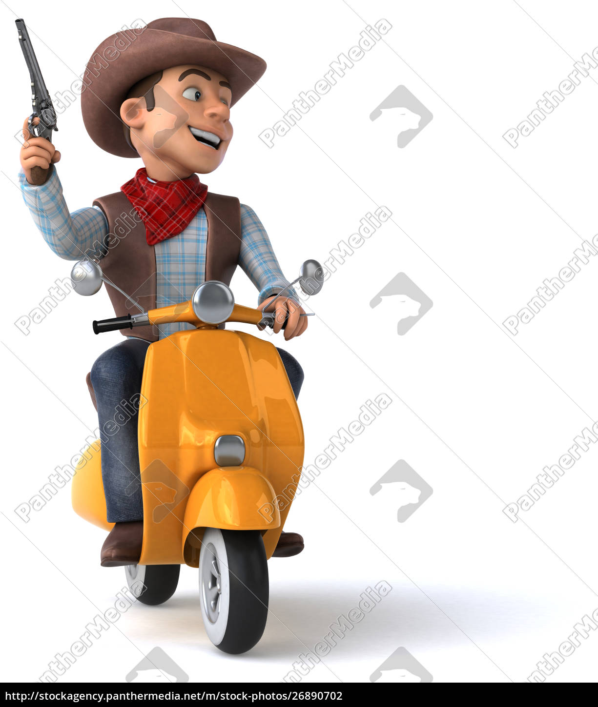 fun, cowboy, -, 3d, illustration - 26890702