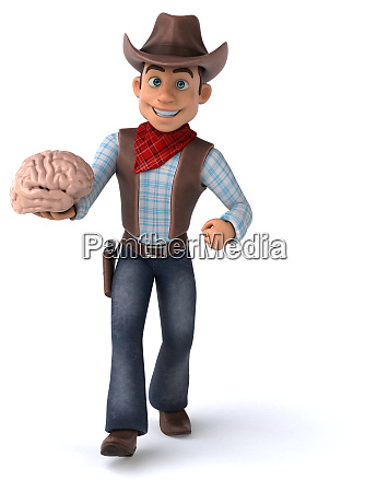 fun, cowboy, -, 3d, illustration - 26890731