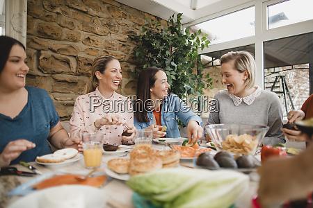 friends making lunch
