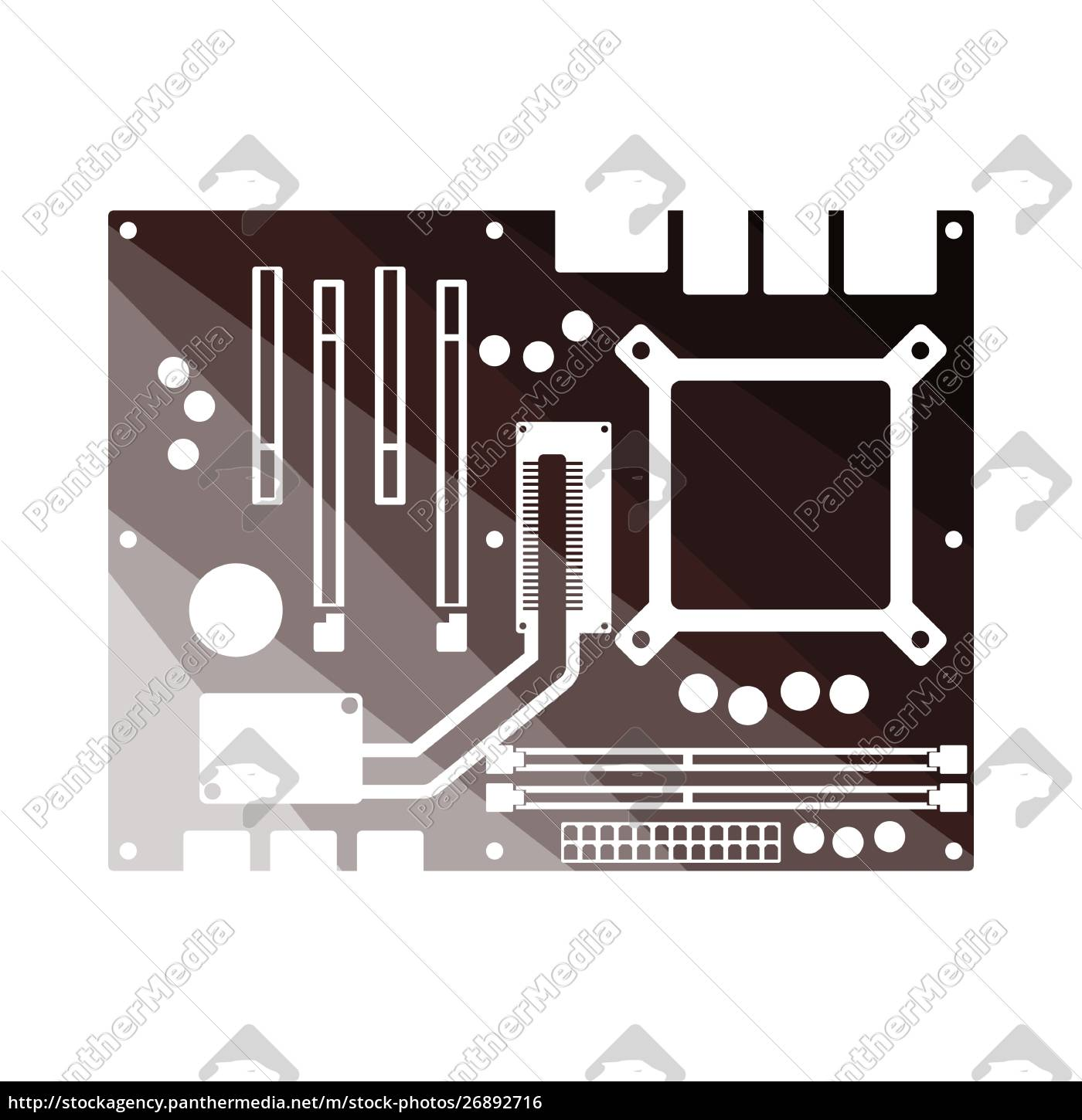 motherboard, icon - 26892716