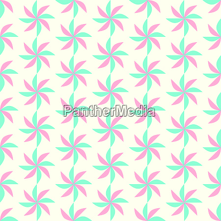 green and red turbine seamless pattern