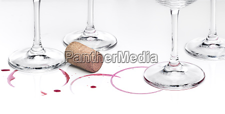 wine and glasses