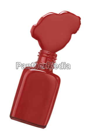 red color nail polish bottle