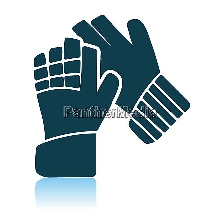 soccer goalkeeper gloves icon
