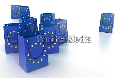 shopping bags in europe