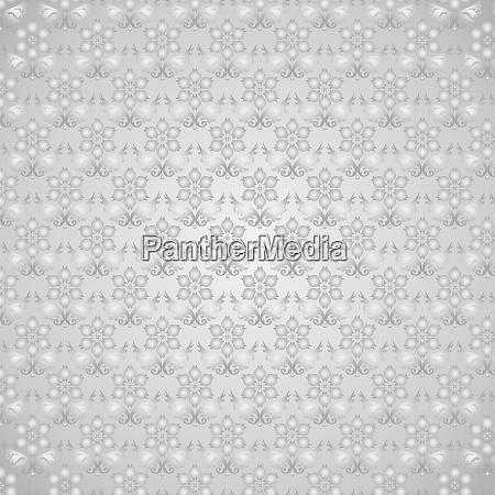 silver damask flower pattern on pastel