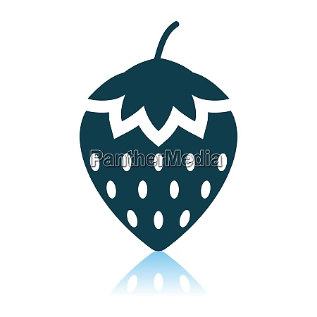 strawberry icon on gray background