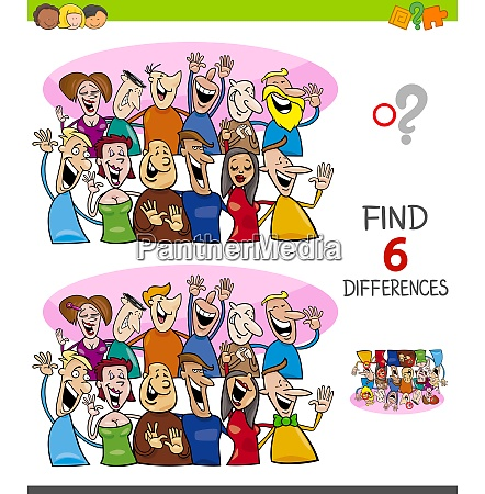 differences game with happy people group