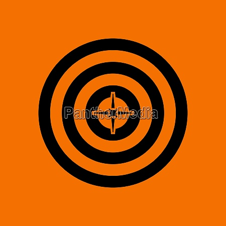 target with dart in center icon