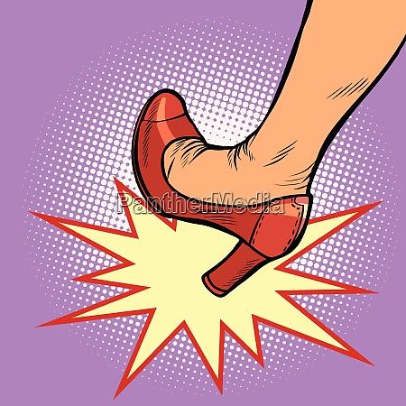 woman heel kick