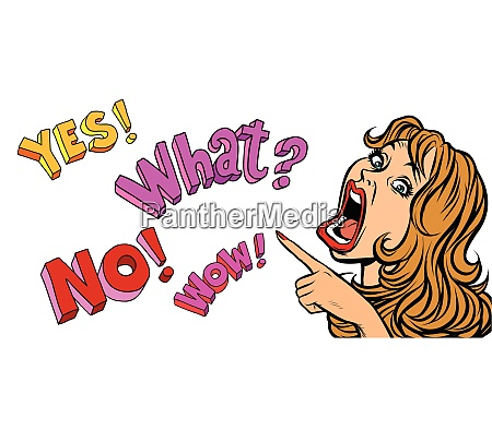yes what no wow pop art