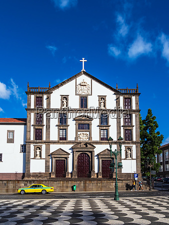 view to a church in funchal