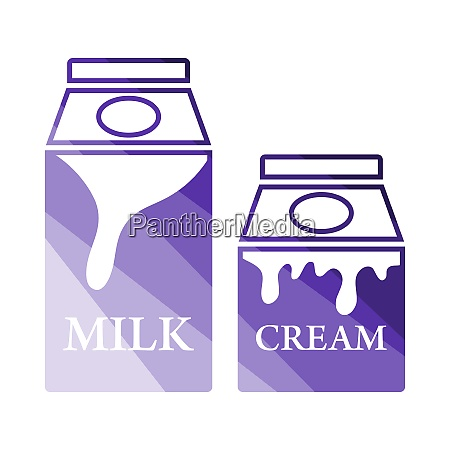 milk and cream container icon