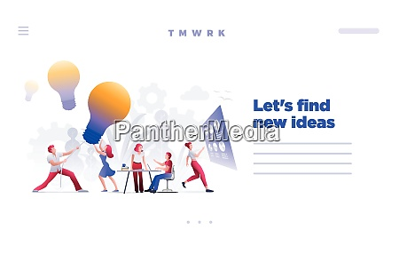 find and hunt new ideas concept