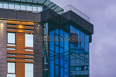 modern building with a glass facade