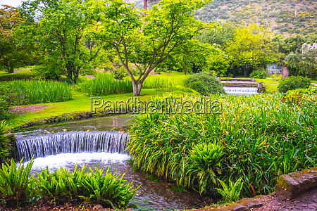eden garden fairytale waterfall fountain in