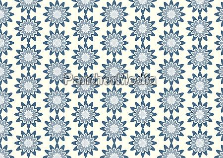 dark blue sweet abstract flower pattern