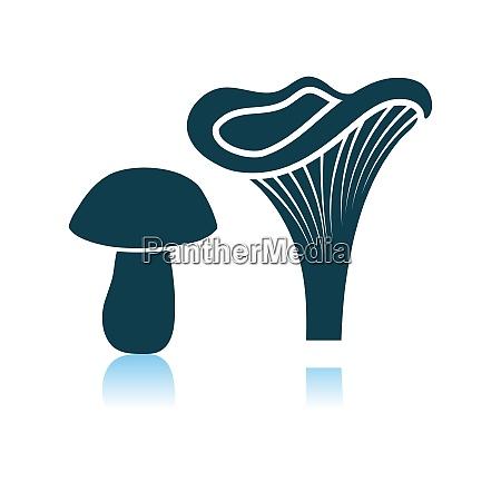 mushroom icon on gray background