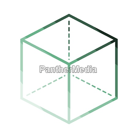 cube, with, projection, icon - 26901117