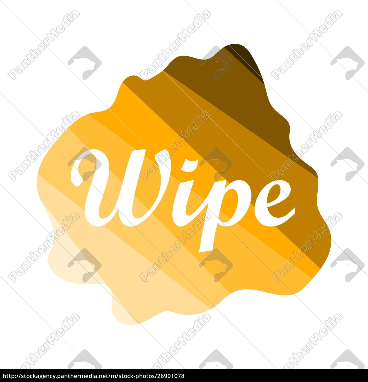 wipe, cloth, icon - 26901078