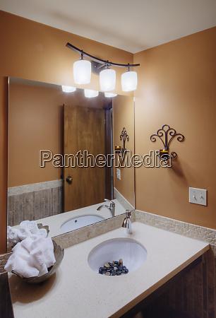 bathroom in beauty salon