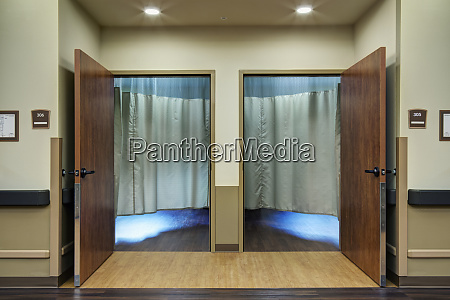 curtains in patient rooms in assisted