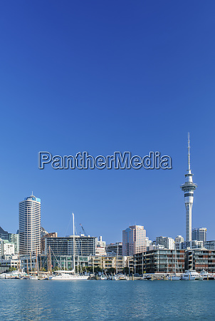 auckland skyline on waterfront auckland new