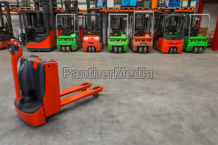 mechanical dolly and forklift machinery in