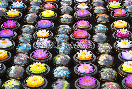 carved soap lotus flowers in bowls