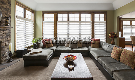 sofa and coffee table in living