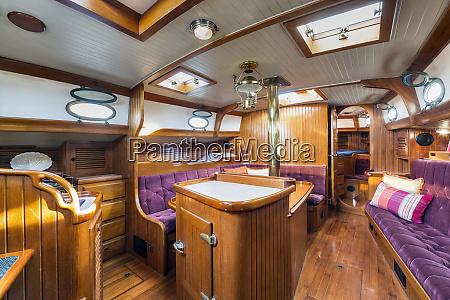below deck on houseboat