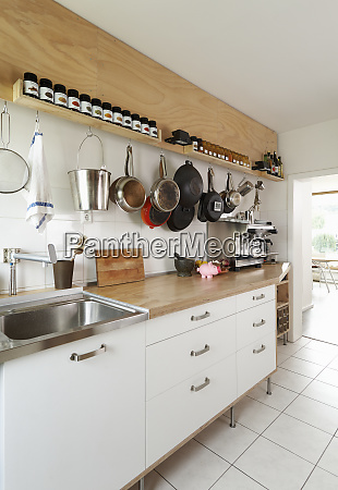 counter space and cooking utensils in