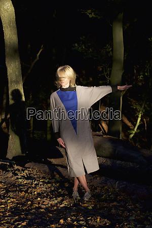 portrait woman in woods