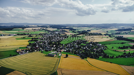 drone point of view sunny view